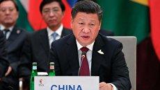 Си Цзиньпин на встрече лидеров стран БРИКС в преддверии саммита Группы двадцати G20 в Гамбурге. 7 июля 2017