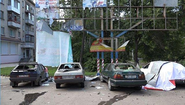 На месте второго взрыва в Луганске. 7 июля 2017