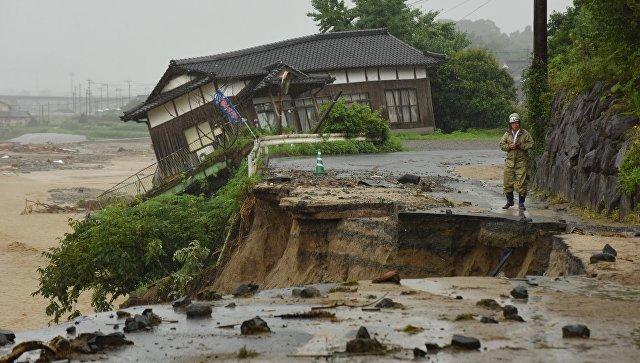 Последствия ливней в городе Асакура в префектуре Фукуока, Япония. Архивное фото