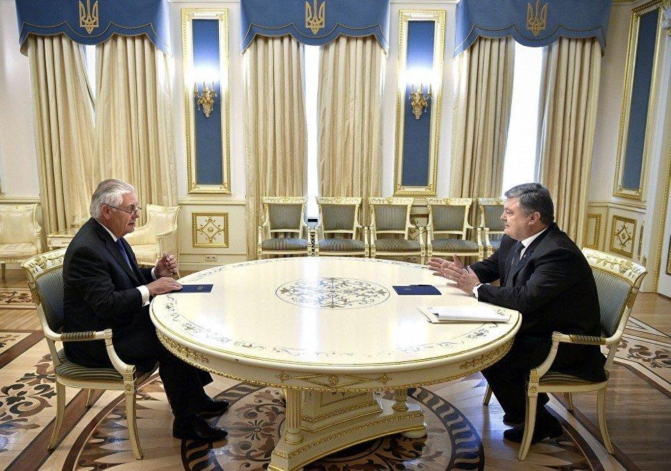Рекс Тиллерсон и Петр Порошенко