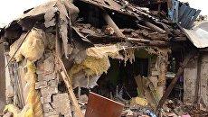 Разрушенный дом в поселке Короленко в Горловке. Архивное фото