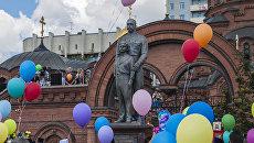 Открытие памятника Императору Николаю II и наследнику - цесаревичу Алексею в Новосибирске. 16 июля 2017