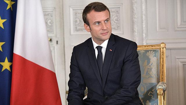 Президент Франции Эммануэль Макрон в Версальском дворце. 29 мая 2017