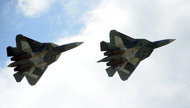 Истребители Т-50. Архивное фото