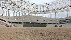 В Нижнем Новгороде на строящемся к ЧМ-2018 стадионе начали засевать газон