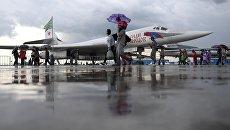 Посетители на Международном авиационно-космическом салоне МАКС-2017 в Жуковском. Архивное фото