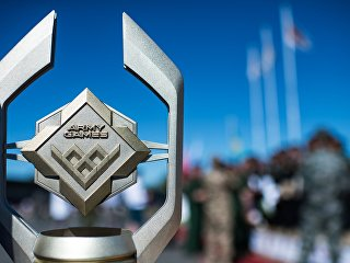 Кубок с символикой Армейских игр. Архивное фото