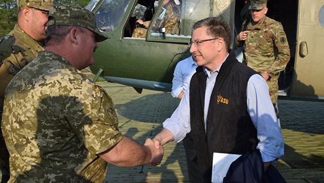 Спецпредставитель США по Украине Курт Волкер на Донбассе