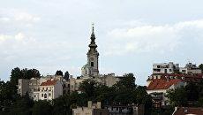 Вид на Стари Град в Белграде, Сербия
