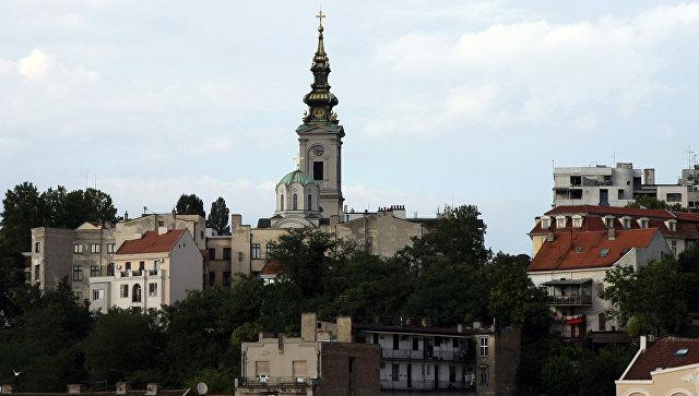 Вид на Стари Град в Белграде, Сербия. Архивное фото