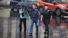 Бывший министр экономического развития РФ Алексей Улюкаев у здания суда. Архивное фото