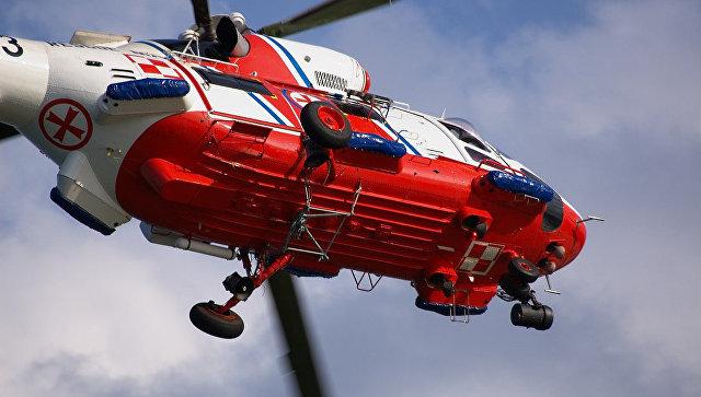 Вертолёт польских спасателей