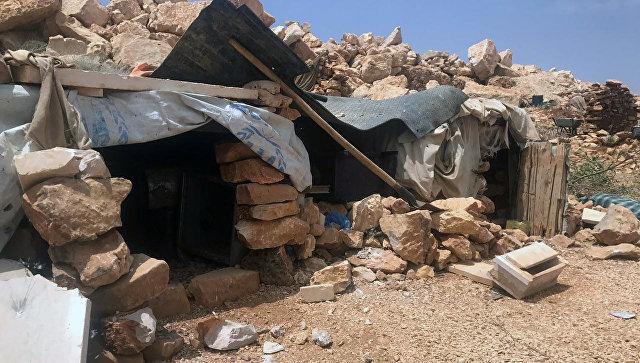 Место базирования террористов в горном районе Эрсаль на ливано-сирийской границе. Архивное фото