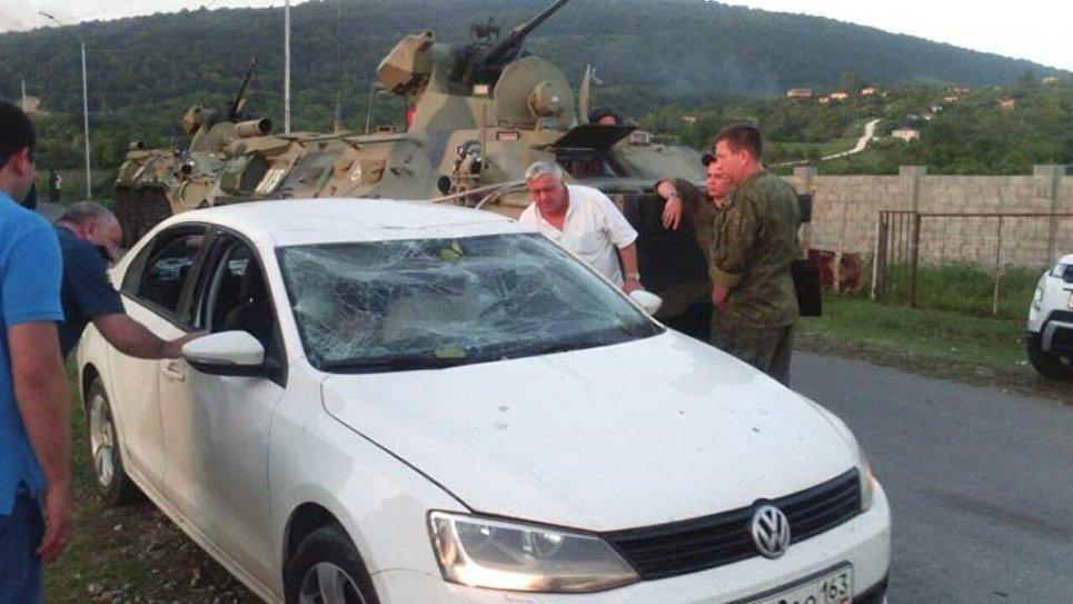 Ситуация на месте взрыва в селе Приморское, Абхазия. 2 августа 2017