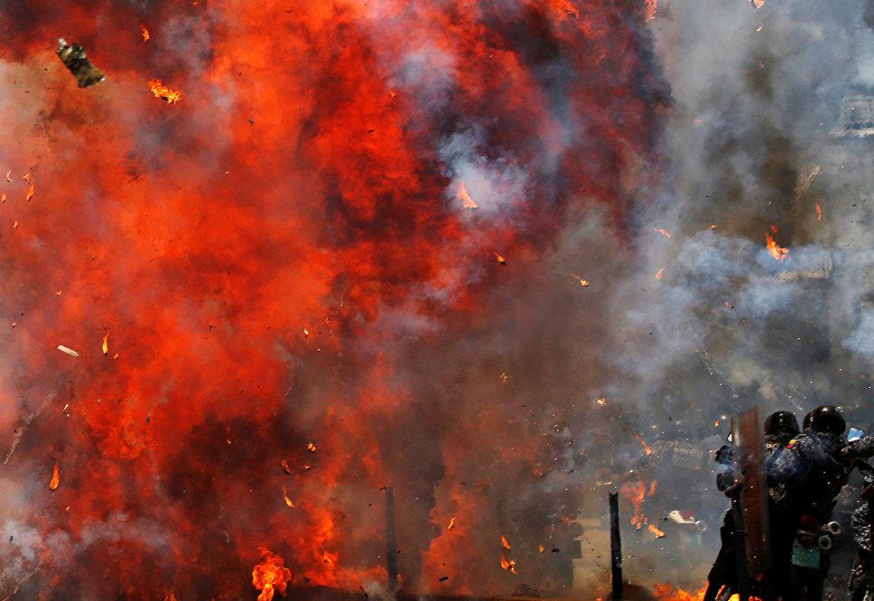 Столкновения в Каракасе во время проведения выборов в Национальное учредительное собрание