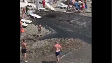 Авария на пляже в Сочи