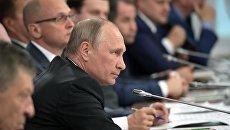 Президент РФ Владимир Путин во время заседания Совета при президенте РФ по развитию местного самоуправления. 5 августа 2017
