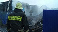 Пожар в селе Угузево Бирского района Республики Башкортостан. 7 августа 2017