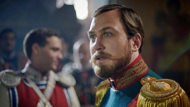 Актер Ларс Айдингер в роли Николая II во время съемокфильма Алексея Учителя Матильда. Архивное фото