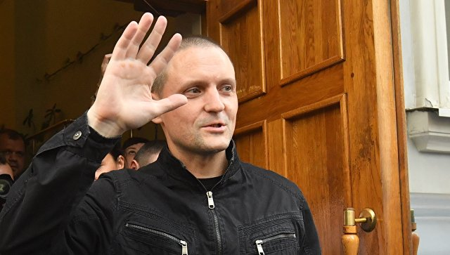 Удальцова арестовали на пять суток за организацию несогласованной акции