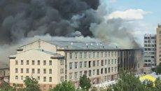 В Смоленске горит швейная фабрика