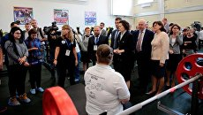 Губернатор ХМАО-Югры Наталья Комарова во время посещения нового регионального центра адаптивного спорта в Сургуте. Архивное фото