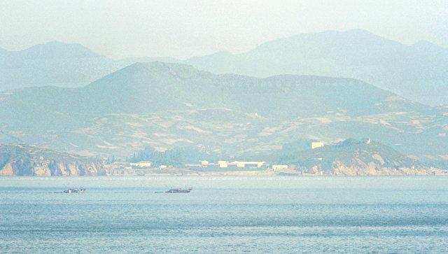 Пограничный район Северной и Южной Кореи в водах Желтого моря. Архивное фото