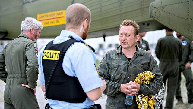 Датский инженер-изобретатель Петер Мадсен в порту Копенгагена. 11 августа 2017