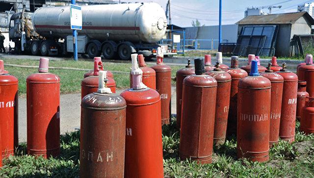 Газовые баллоны. Архивное фото