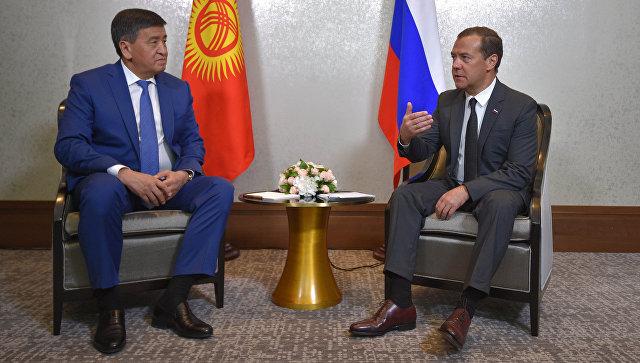 Медведев обозначил рост товарооборотаРФ иКиргизии