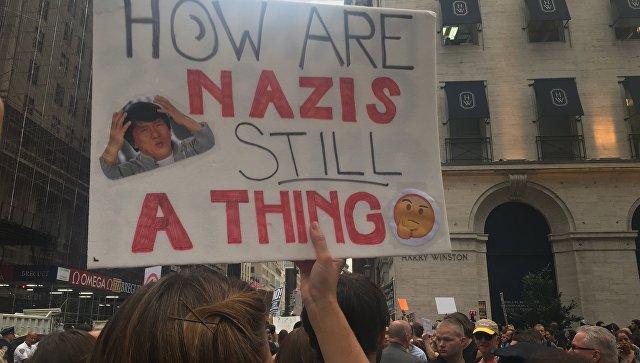 Как минимум тысячи протестующих ожидают приезда Трампа вцентре Нью-Йорка
