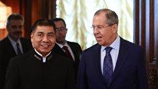 Глава МИД Боливии Фернандо Уанакуни Мамани и министр иностранных дел РФ Сергей Лавров. 16 августа 2017