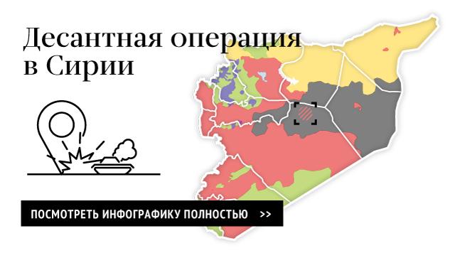 Десантная операция сирийской армии при участии военных российских советников