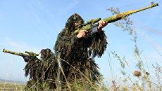 Снайперы во время активной фазы учений Мирная миссия - 2013
