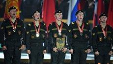 Команда армии России, занявшая первое место на соревнованиях по танковому биатлону Армейских международных Игр-2017