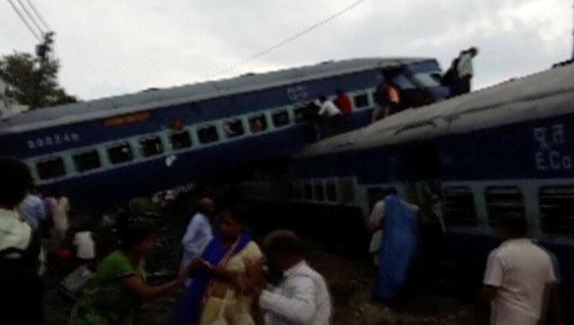 Крушение поезда в Индии. 19 августа 2017