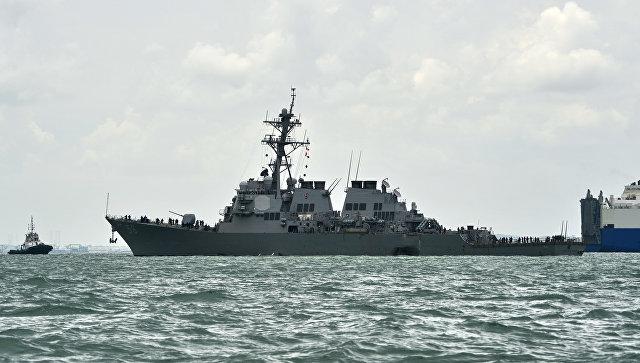 ВМС США: столкновения эсминца John S. McCain станкером можно было избежать