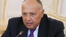 Министр иностранных дел Египта Самех Шукри во время встречи с Сергеем Лавровым. 21 августа 2017
