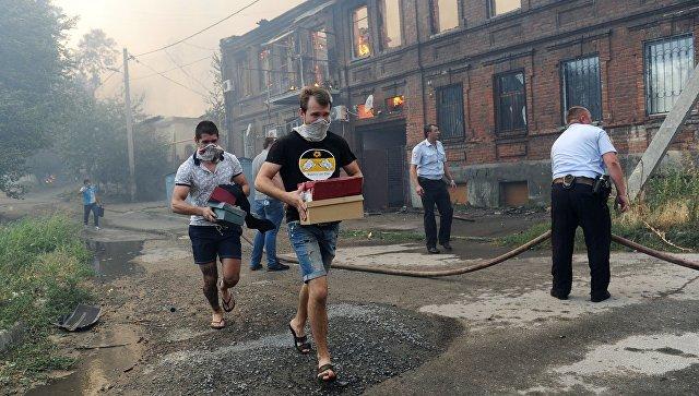 За медпомощью в результате пожара в Ростове-на-Дону обратились 36 человек