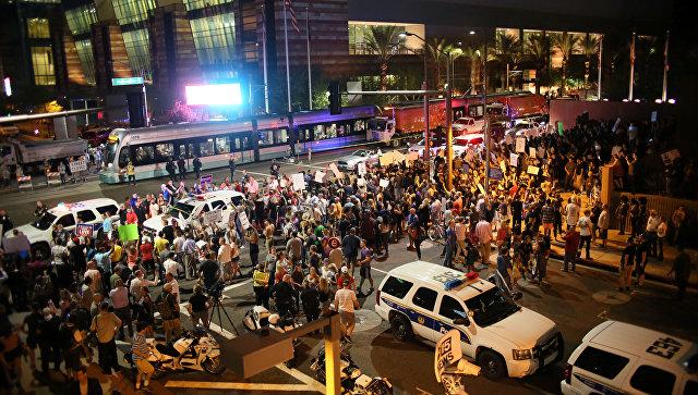 Протесты в городе Финикс, Аризона