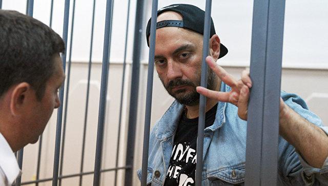 Режиссер Кирилл Серебренников, обвиняемый в организации крупного мошенничества, на заседании Басманного суда в Москве