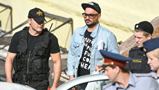 Режиссер Кирилл Серебренников после заседания Басманного суда в Москве. 23 августа 2017