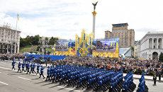 Украинские военнослужащие на параде в честь Дня независимости в Киеве. 24 августва 2017