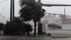Во время урагана Харви в Корпус-Кристи, штат Техас, в Мексиканском заливе. 25 августа 2017