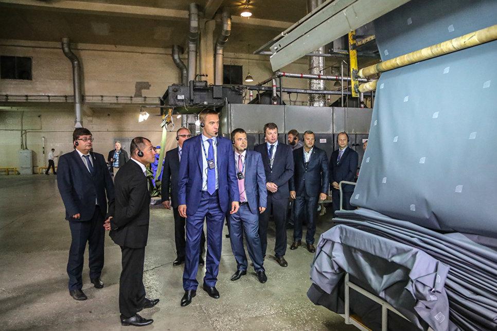 Новый ткацкий цех для производства спеодежды группы компаний Чайковский текстиль в Пермском крае