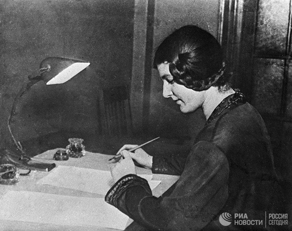 Писательница Лариса Рейснер
