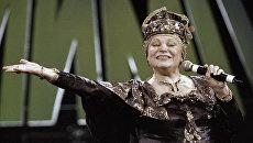 Исполнительница русских народных песен Людмила Рюмина. Архивное фото