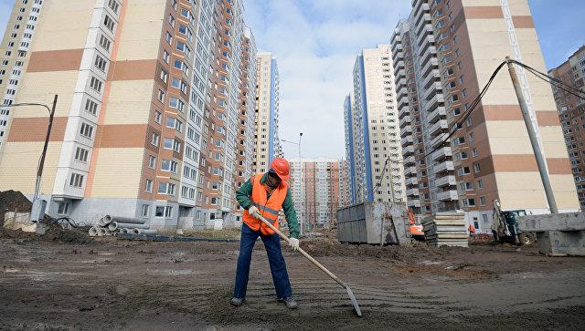 Строительство новых жилых домов в Москве