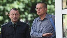 Алексей Улюкаев после заседания Замоскворецкого суда. 1 сентября 2017