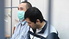 Обвиняемые по делу о теракте в метро Санкт-Петербурга Бахрам Ергашев (слева) и Акрам Азимов. Архивное фото